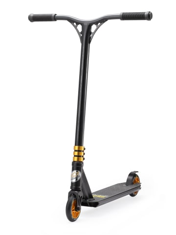 """STAR-SCOOTER Stuntscooter """"Semi Professional"""" in Schwarz Gold - 110mm"""