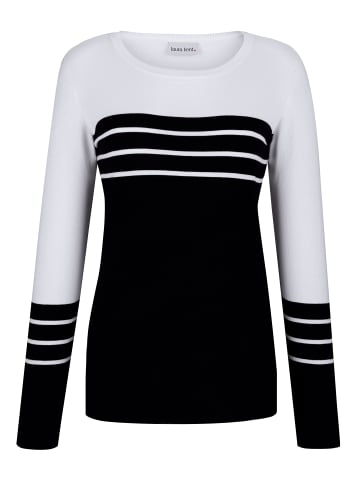 Laura Kent Pullover in Schwarz,Weiß