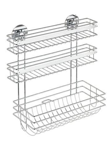 Wenko Turbo-Loc® Küchenrollenhalter Trio, Befestigen ohne bohren in Silber glänzend