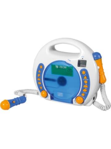 X4-Tech Kinder CD-Player Bobby Joey inkl. USB / MP3 und Mikrofone, Blau