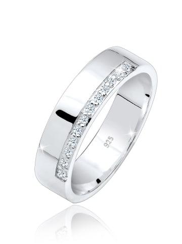 Elli DIAMONDS  Ring 925 Sterling Silber Bandring, Diamant, Verlobungsring in Weiß