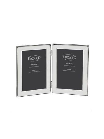 Edzard Doppel-Fotorahmen Salerno in Silber für 2 Fotos 10 x 15 cm