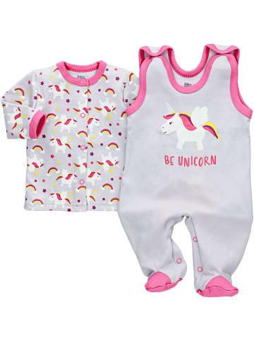 Baby Sweets 2tlg Set Strampler + Shirt Be Unicorn in bunt