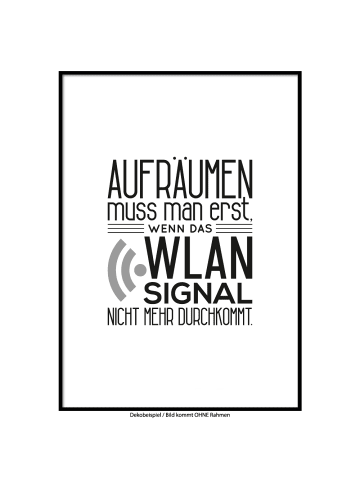 """SMART ART Kunstdrucke Kunstdruck / Poster """"Wlan Signal"""" / A4 oder A3"""