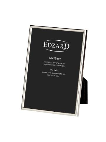 Edzard Bilderrahmen Genua in Silber, für Foto 13x18 cm, Versilbert & Anlaufgeschützt