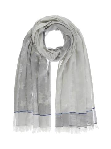Passigatti Schal mit Silbereffekten in light gray melange