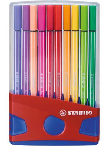 STABILO Premium-Filzstifte Pen 68, 20 Farben im Color Parade Tischset