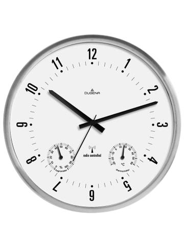 Dugena Funkwanduhr Weiß / Silber