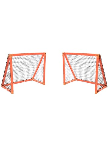"Gorilla 2tlg. Set: Aufblasbare Fußball-Tore ""iGoal"" in orange - 105 x 90 cm"