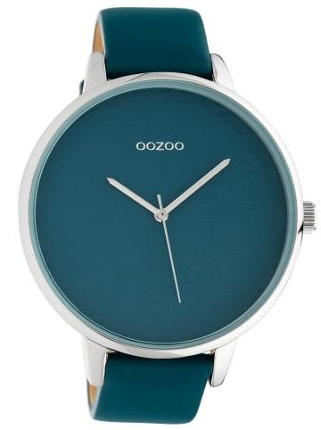 Oozoo Damenuhr mit Lederband Blaugrün 48 mm