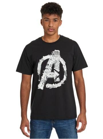 MARVEL Avengers T-Shirt Avengers Logo in schwarz