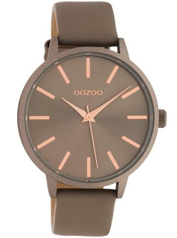 Oozoo Damen-Armbanduhr mit Lederband Quarz Taupe 42 mm Braun