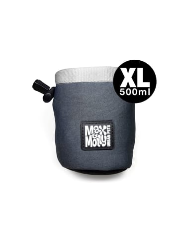 Max&Molly Leckerli-Beutel aus Neopren Silber XL