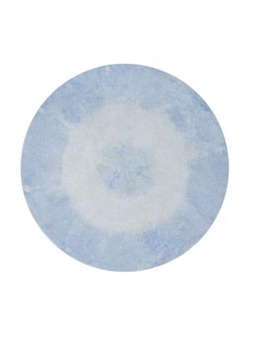 "Lorena Canals Teppich   ""Tie - Dye"" in Hellblau - 150x150 cm"