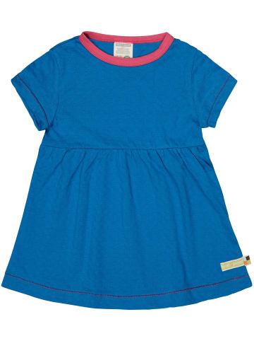 Loud + proud Kleid mit Jacquard-Muster in Cobalt