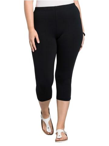 Sheego Capri-Leggings in schwarz