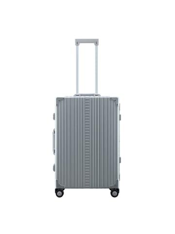 Aleon Traveler 4-Rollen Trolley 67 cm mit Kleidersack in platinum
