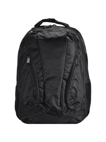 Dermata Business-Rucksack 44 cm Laptopfach in schwarz