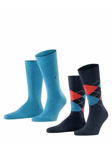 Burlington Socken 2er Pack in Blau-Kombi