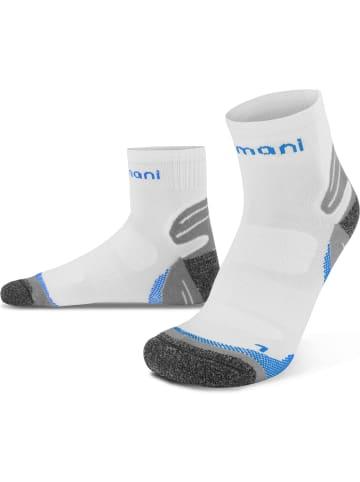 Normani 3 Paar Kurzschaft-Sportsocken mit verstärkter Sohle in Weiß/Blau