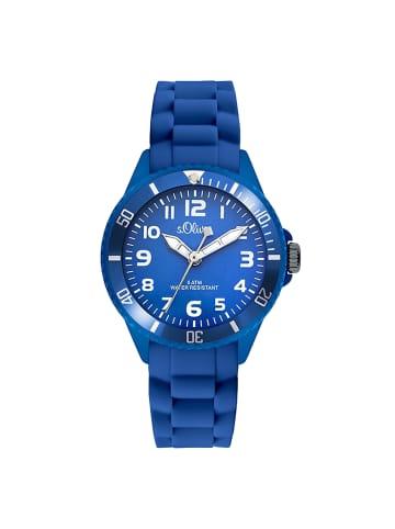 S.Oliver Time Armbanduhr SO-2757-PQ in Blau