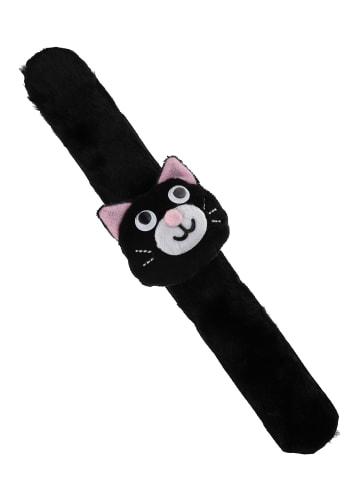 Six Click-Clack-Armband mit Halloween-Motiv in schwarz