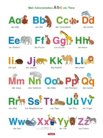 Spielend Lernen Fragenbär-Lernposter. Mein bärenstarkes Abc der Tiere