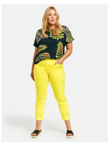 SAMOON Hose Jeans verkürzt in Gelb