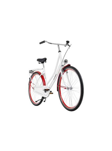 KS CYCLING Hollandrad 28'' Tussaud Singlespeed in weiß-rot