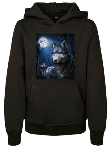 Mister Tee Kapuzensweatshirt Wolf in Black