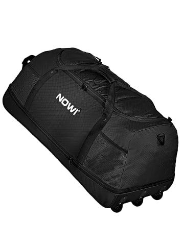 Nowi XXL 3-Rollen Reisetasche platzsparend 81 cm mit Dehnfalte in schwarz