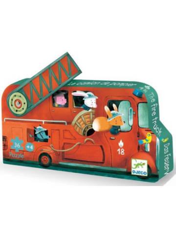 Djeco Puzzle Das Feuerwehrauto, 16 Teile