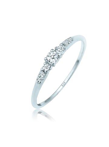 DIAMORE Ring 585 Weißgold Verlobungsring in Silber