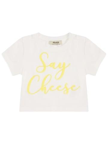 Panco T-Shirt - mit Slogan - für Mädchen in Weiß
