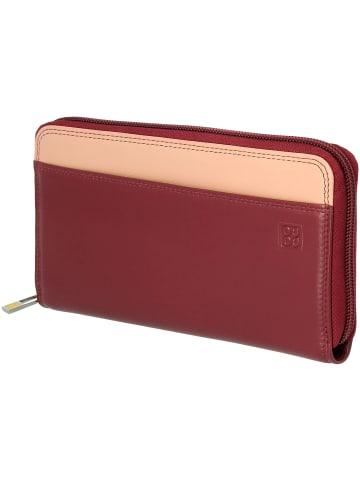 DuDu Geldbörse Leder 19 cm in burgundy