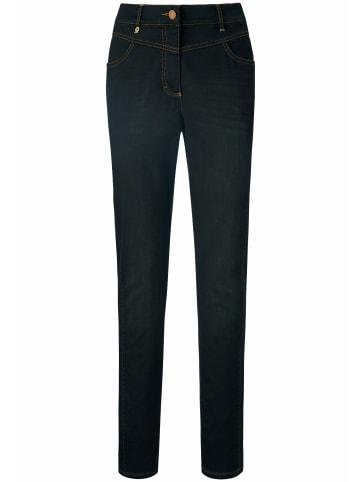 PETER HAHN Ankle-Jeans mit Kontrastnähten in black denim
