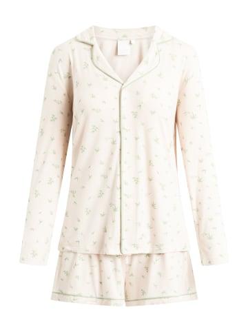CCDK  Pyjama Set, Shorty und Langarmhemd Joy L/S in pale rose AOP