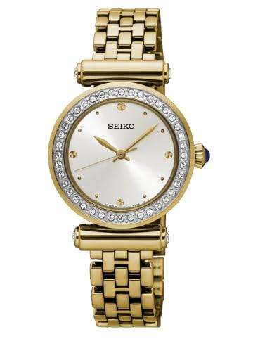 Seiko Analog Uhr 'SRZ46' in Beige/Gold