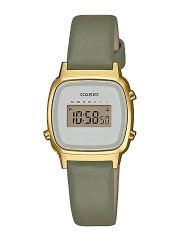 Casio Vintage Mini Digitaluhr für Damen Grün/Gold