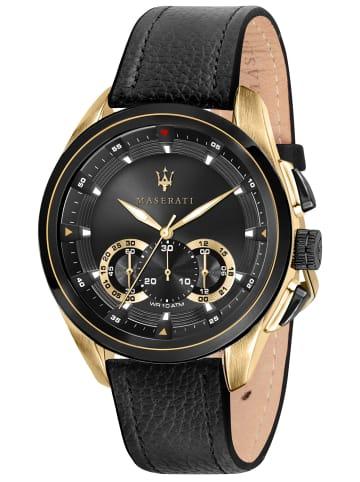 Maserati Chronograph für Herren Traguardo Schwarz / Gold