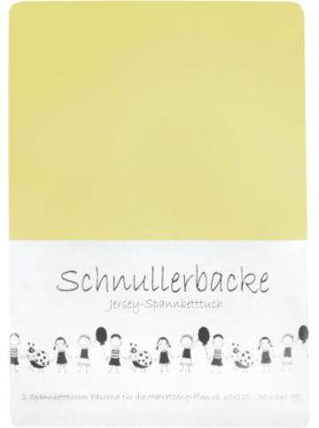 Schnullerbacke Spannbettlaken hellgelb 2er Set, Jersey, 70 x 140 cm