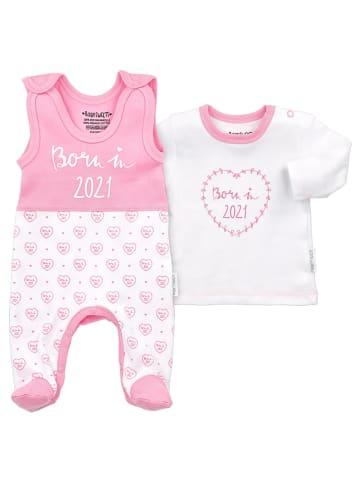 Baby Sweets 2tlg Set Strampler + Shirt Born in 2021 in bunt