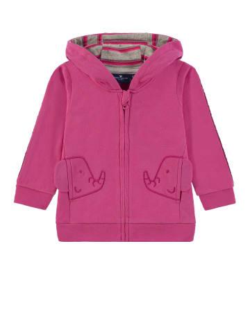TOM TAILOR kids Sweatjacke mit Kapuze in fandango pink