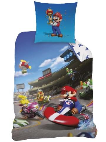 """Super Mario Jungen Bettwäsche-Set """"Mario Kart Winner"""" in Blau"""
