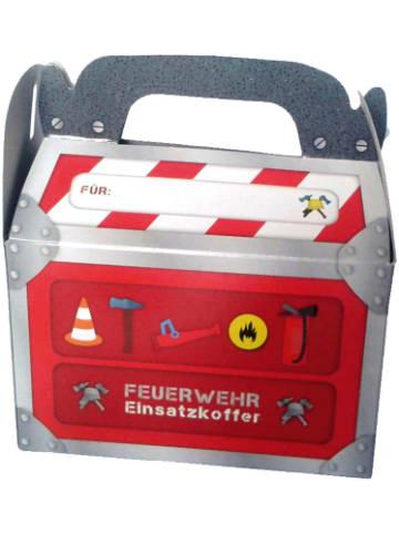 Dh konzept Geschenkboxen Feuerwehr, 6 Stück