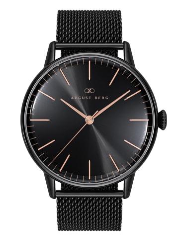 August Berg Uhr Serenity Noir Black Black Mesh 40mm in sunray black