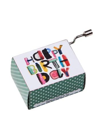 Butlers Spieluhr Happy Birthday modern SING A SONG in bunt