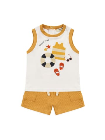 Panco T-Shirt Look - mit Strandthema Druck - für Jungen in Gelb