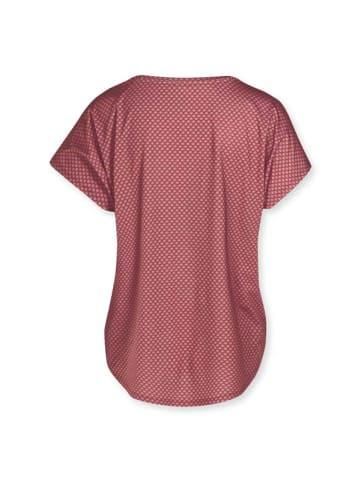 "PiP Studio ärmelloses top ""Tatum Sport Shirt Sleeveless Lace Flower Red"" in Rot"