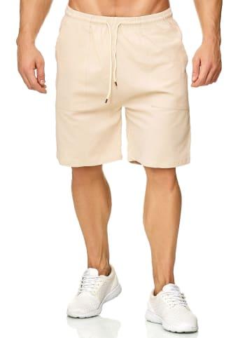 Max Men Shorts Bermuda Pants Kurze Sommer Hose leicht in Beige
